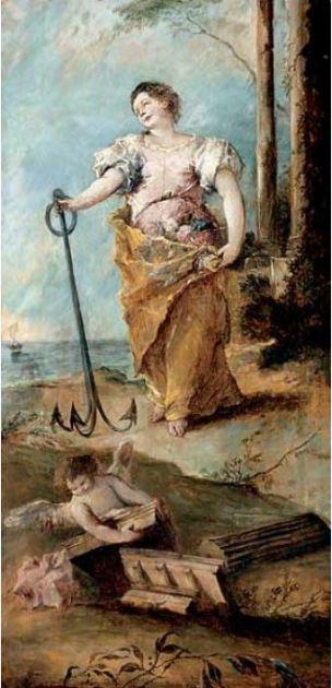 Guardi Allegorie de l Esperance 1747 Ringling Museum of art