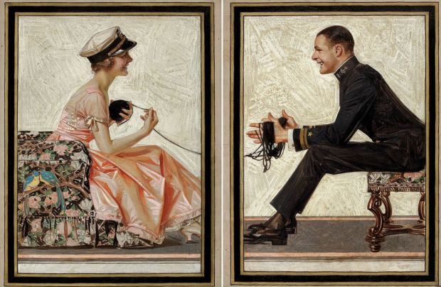 JOSEPH CHRISTIAN LEYENDECKER Kuppenheimer Style Book advertising diptych, Fall & Winter 1918-1919