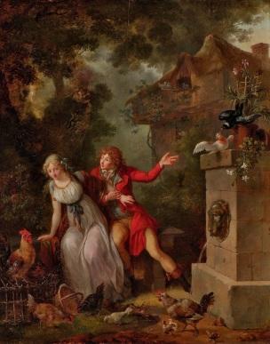 Jean- Frederic-Schall-Les fiances 1790 coll part
