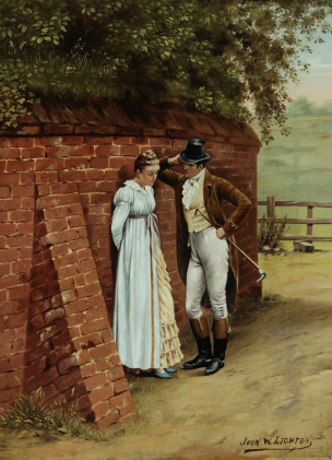 John W. Lighton Rider and Girl Flirtation Knohl Collection Bowers Museum Santa Ana, California