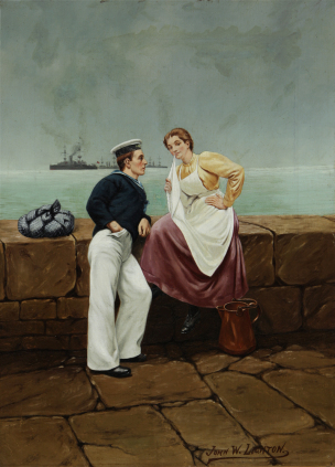 John W. Lighton Sailor and Girl Flirtation Knohl Collection Bowers Museum Santa Ana, California