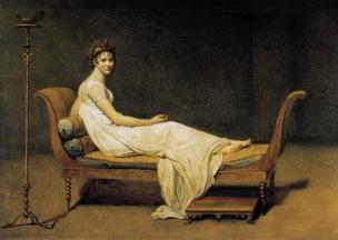 Juliette_Recamier 1800 David, Louvre