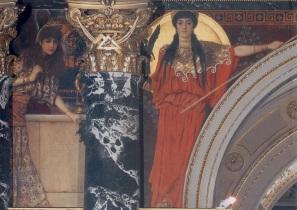 Klimt L'Art Grec (Tanagra et Pallas Athene) 1890 Escalier du Kunsthistorisches Museum