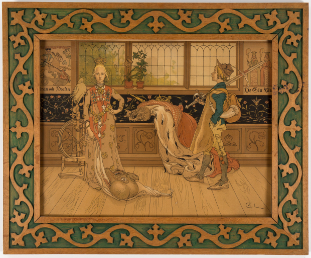 Larsson Sankt Goran och Prinsessan 1896 lithographie