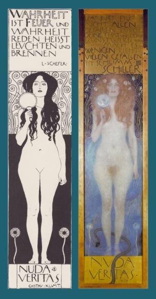 Nuda Veritas, Gustav Klimt, 1899, Osterreichisches Theatermuseum de Vienne