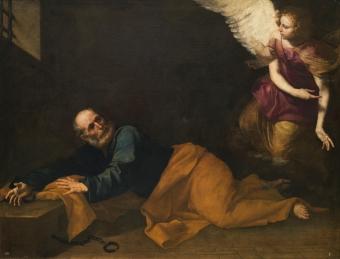 Ribera 1639 Liberation of st Peter Prado