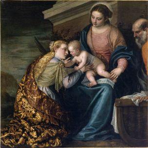 Veronese vers 1560 Mariage mystique de Sainte Catherine Musee Fabre