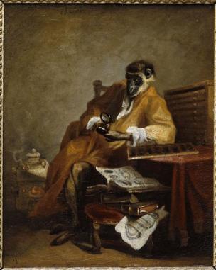 chardin-Le singe antiquaire -1740 Musee des Beaux Arts chartres