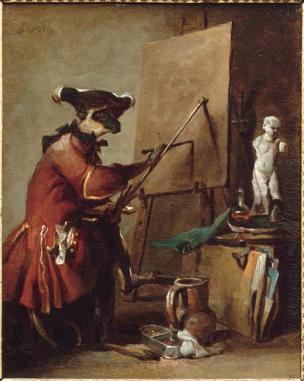 chardin-Le singe peintre-1740 Musee des Beaux Arts chartres
