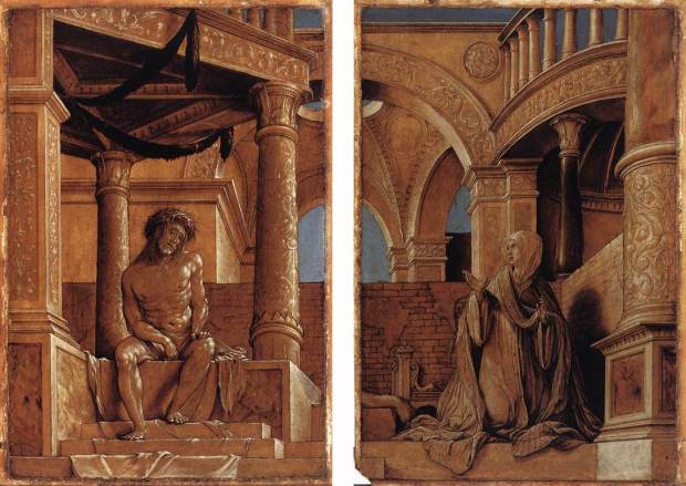 hans-holbein diptych-with-christ-and-the-mater-dolorosa 1521 Kunstmuseum, Offentliche Kunstsammlung, Basel