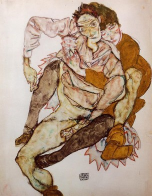 seated-couple-egon-and-edith-schiele-1915 Albertina Vienne