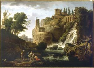 vernet 1747 cascatelles de tivoli Saint-Petersbourg, Ermitage,