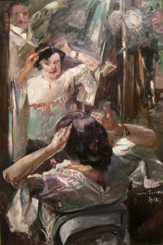 1912 - Corinth-At the mirror Worcester Art Museum