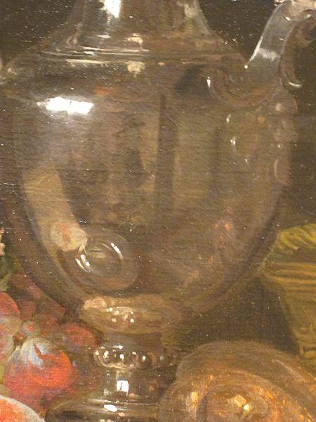 Abraham Van Beyeren, Still Life with Silver Wine Jug, 1660-1666 detail reflet