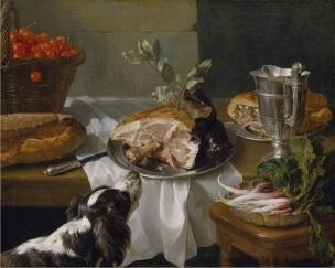 Alexandre-Francois Desportes Still Life with a Dog 1705 Staatsgemaldesammlungen, Gemaldegalerie Schleissheim