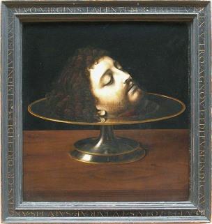 Andrea Solario Saint John the Baptist s Head, 1507. Musee du Louvre, Paris