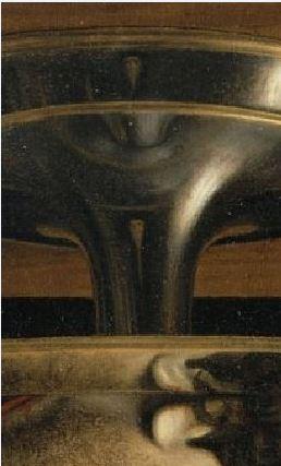 Andrea Solario Saint John the Baptist s Head, 1507. Musee du Louvre, Paris reflet
