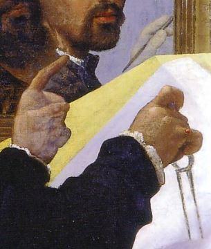 Bernardino_Licinio autoportrait mains