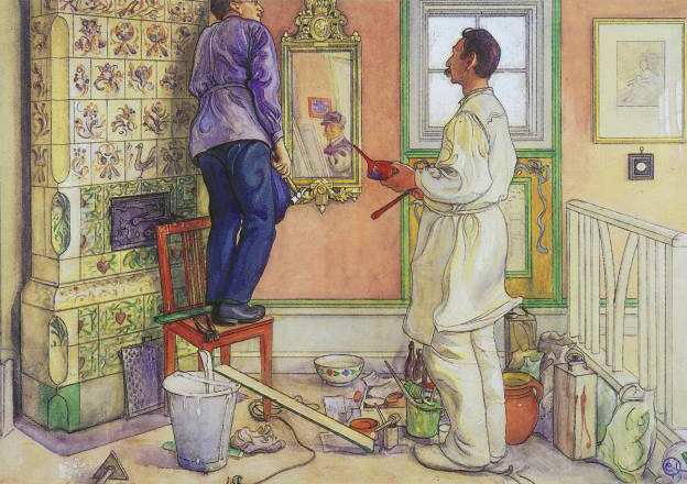 Carl_Larsson_My friends, the Carpenter and the Painter 1909