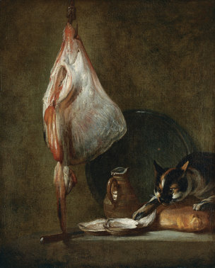 Chardin 1728 Still Life With Cat and RayFish Museo Thyssen-Bornemisza, Madrid