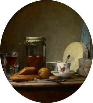 Chardin 1756 Le bocal d abricots Louvre Paris