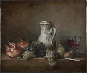 Chardin 1763 Raisins et grenades 1763 Louvre