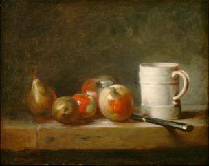 Chardin 1764 La faience blanche Still Life with a White Mug National Gallery of Arts Washington