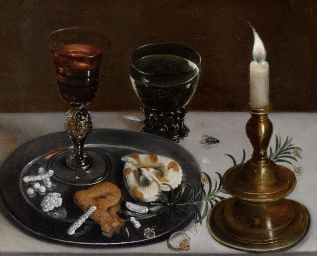 Clara Peeters 1607 Stilleben mit Façon-de-Venise-Glas, Romer und einer Kerze Allegorie der Hochzeit Coll privee