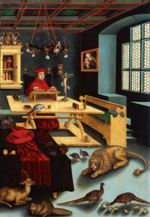 Kardinal Albrecht von Brandenburg als Hieronymus im Gehäus.jpg