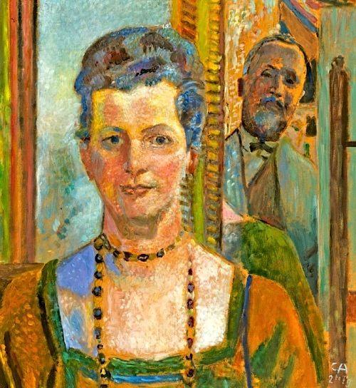 Cuno Amiet - Autoportrait avec sa femme 1930 coll part