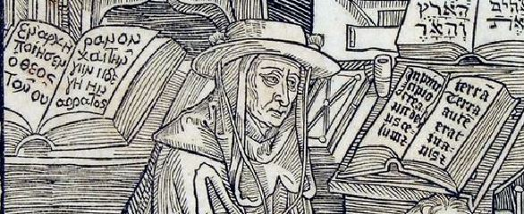 Durer 1492, Sophronius Eusebius Hieronymus, Epistolae, by Nikolaus Kessler Basel, 1492 pupitre