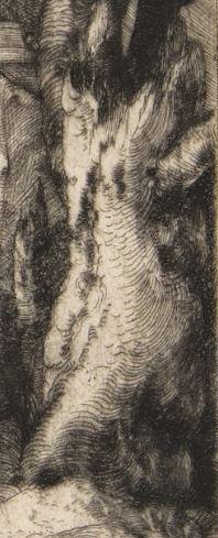 Durer 1512 Saint Jerome pres d'un saule etete souche