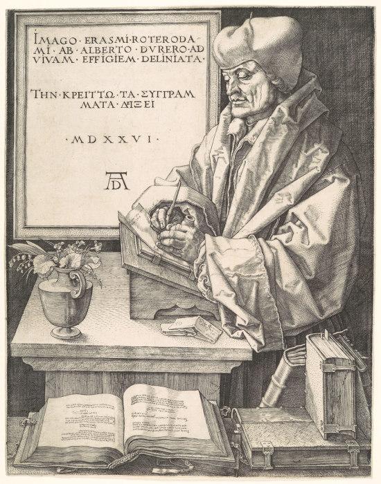 Durer 1526 Portrait d'Erasme