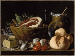 Melendez 1772 ca Still Life with Bread, Ham, Cheese, and Vegetables Musum of Fine Arts, Boston