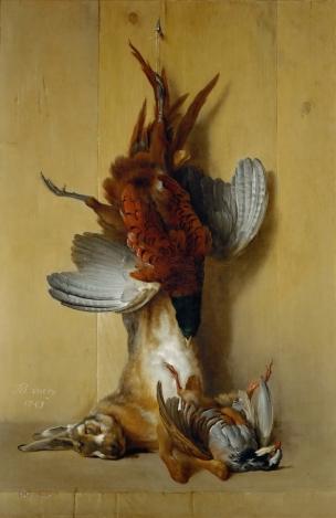 Oudry Faisan lievre et perdrix rouge 1753 Louvre