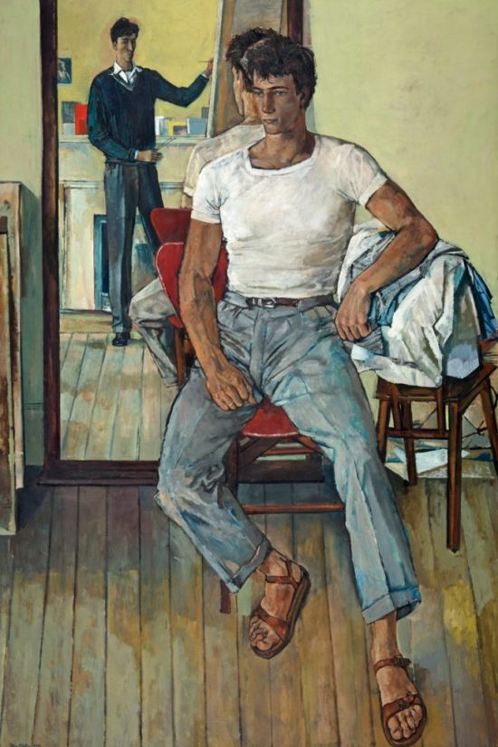 Painter and Model 1953, John Minton, Russell-Cotes Art Gallery and Museum Bournemouth