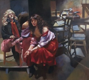 Robert Lenkiewicz 1990 The Painter with Karen