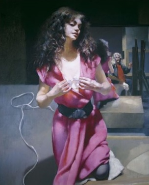 Robert-Lenkiewicz-1992-The-Painter-with-Karen.-St-Antony-Theme