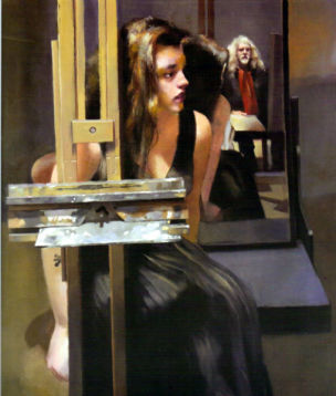 Robert Lenkiewicz Roxana With Painter St Anthony Theme