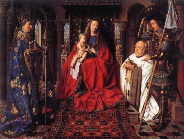 Van Eyck 1436 La Madonne au chanoine van der Paele Groeninge Museum Bruges