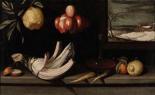Van der Hamen 1623 Cardon et paysage d hiver