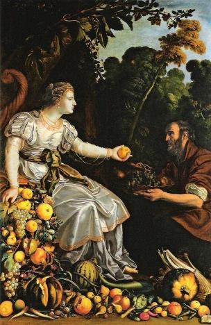 Van der Hamen 1626 Vertumn et Pomone Banco di Espana