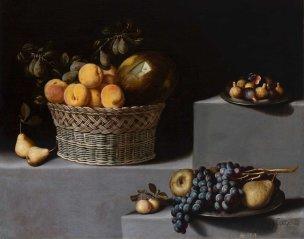 Van der Hamen 1629 Bodegon con cerezas Coll part 79 x 99 cm
