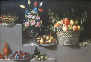 Van der Hamen 1629 Still_Life_with_Flowers_and_Fruit MET NY