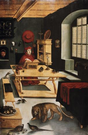 Kardinal Albrecht von Brandenburg als heiliger Hieronymus