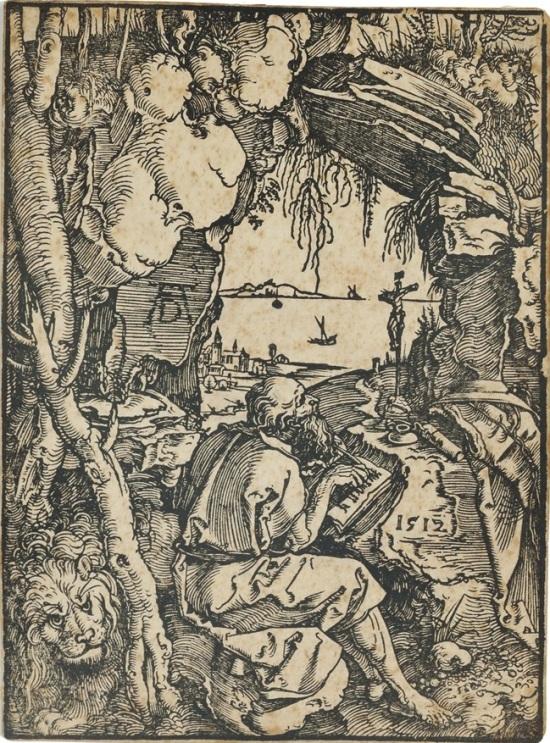 durer 1512 der-hl-hieronymus-in-der-fels