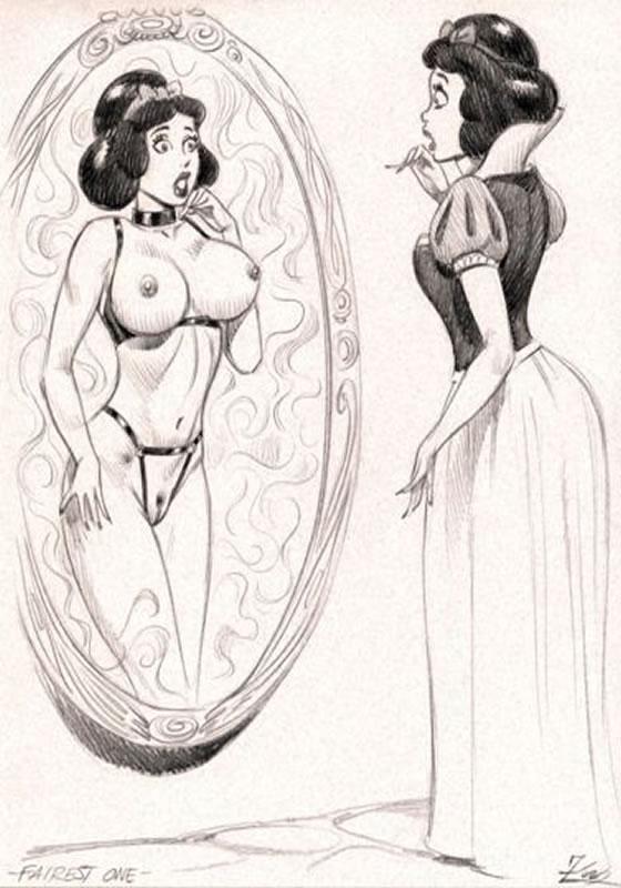 Blanche Neige au miroir Julius Zimmermann 2001