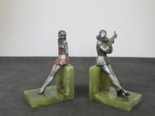 serre-livres HF-art-deco-en-bronze-par-josef-lorenzl-crejo-autriche-1925