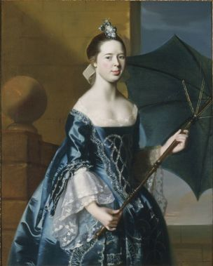 John Singleton Copley Mrs. Benjamin Pickman (Mary Toppan). 1763. Yale University Art Gallery, New Haven