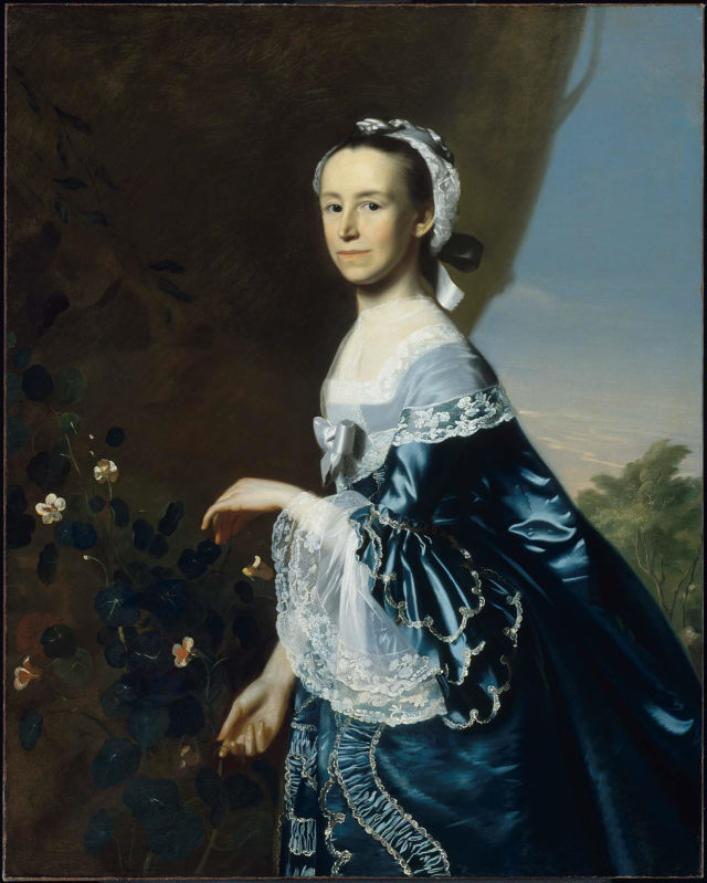 John Singleton Copley Mrs. James Warren (Mercy Otis) , 1763, Museum of Fine Arts, Boston